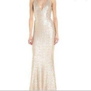 Dress the Population Gold Sequin Dress XL